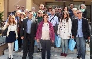 """Επίσκεψη εκπαιδευτικών από τις σχολικές μονάδες - εταίρους του προγράμματος  COMENIUS: """"WATERSONG"""" στο δημαρχείο Παγγαίου"""