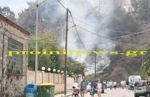 Φωτιά πίσω απ' τα τσιμέντα «Ηρακλής» στην Ιχθυόσκαλα