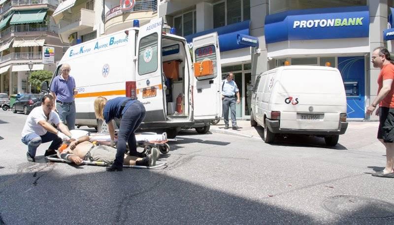 Τραυματισμός οδηγού μοτοποδηλάτου