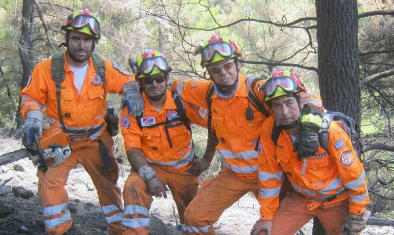 Η Διασωστική Ομάδα Καβάλας στη φωτιά του Αγίου Όρους
