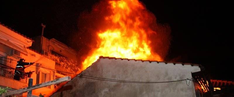 Φωτιά σε σπίτι στη Παναγία
