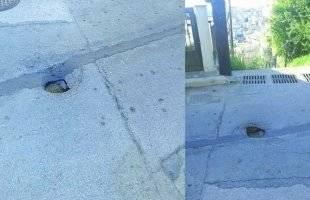 Μια τρύπα σαν τον Βεζούβιο καταμεσής του δρόμου