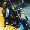 Easy rider Έλληνας πρωταγωνιστής ταξίδεψε στην Καβάλα με την μηχανή του (φωτογραφία)