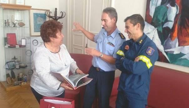 O νέος Διοικητής Πυροσβεστικής στην Δήμαρχο