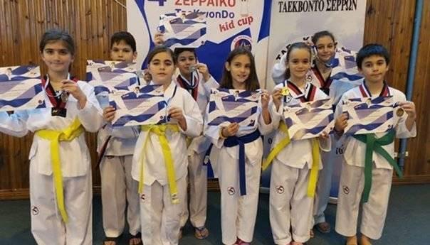 O ΑΣ Ταεκβοντό Καβάλας στις Σέρρες  για το 4ο Kids Cup