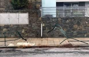 Δύο τροχαία ατυχήματα στο Παληό (φωτογραφίες)