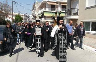 Αναπαράσταση της τελετής της αποκαθήλωσης στην Αγία Μαρίνα της Νέας Ηρακλείτσας (φωτογραφίες)