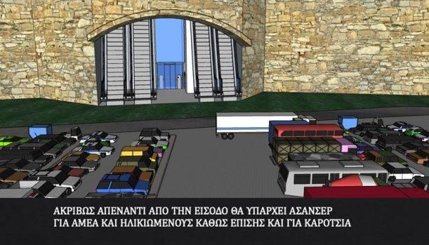 Η πρόταση του Βαγγέλη Παππά για την ενοποίηση Παναγίας-Λιμανιού με σκάλες και ασανσέρ