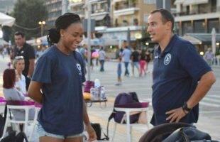 Η Petties Fulani James έκλεψε την παράσταση στο πρώτο street volley του ΑΟΚ(φωτογραφίες)