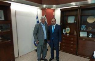 Συνάντηση του Γιάννη Πασχαλίδη  με τον Υπουργό Ναυτιλίας και Νησιωτικής Πολιτικής