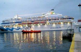 To κρουαζιερόπλοιο AIDA CARA στο λιμάνι της Καβάλας (φωτογραφίες)