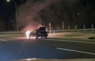 Συνελήφθη διακινητής μετά από καταδίωξη  στην Εγνατία οδό - Στο ύψος του Παληού το αυτοκίνητο πήρε φωτιά και ακινητοποιήθηκε