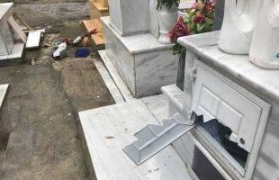 Έψαχναν χρήματα στα ντουλαπάκια των τάφων! Καταστροφές σε περισσότερα από 50 (φωτογραφίες)