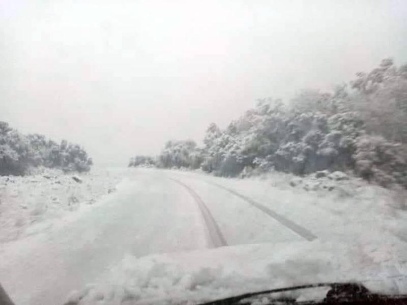 Χιόνισε στο Βουνοχώρι (φωτογραφία)