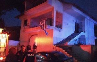 Φωτιά σε κατοικία στις Κρηνίδες (φωτογραφία)