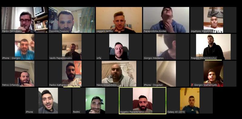 Διαδικτυακή συνάντηση των ποδοσφαιριστών του ΑΟΚ και του τεχνικού team