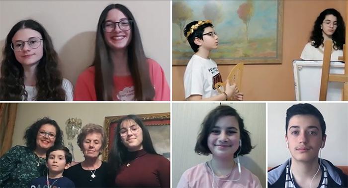 Οι μαθητές του Μουσικού Σχολείου Καβάλας τραγουδούν : «Ν' Αγαπάς»