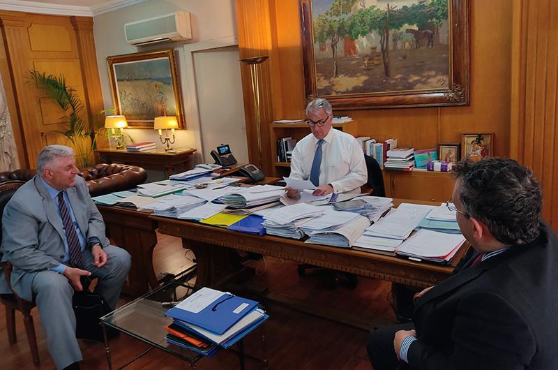 Συνάντηση του Γιάννη Πασχαλίδη με τον Υπουργό Αγροτικής Ανάπτυξης και Τροφίμων για τα τρέχοντα αγροτικά ζητήματα της Π.Ε. Καβάλας