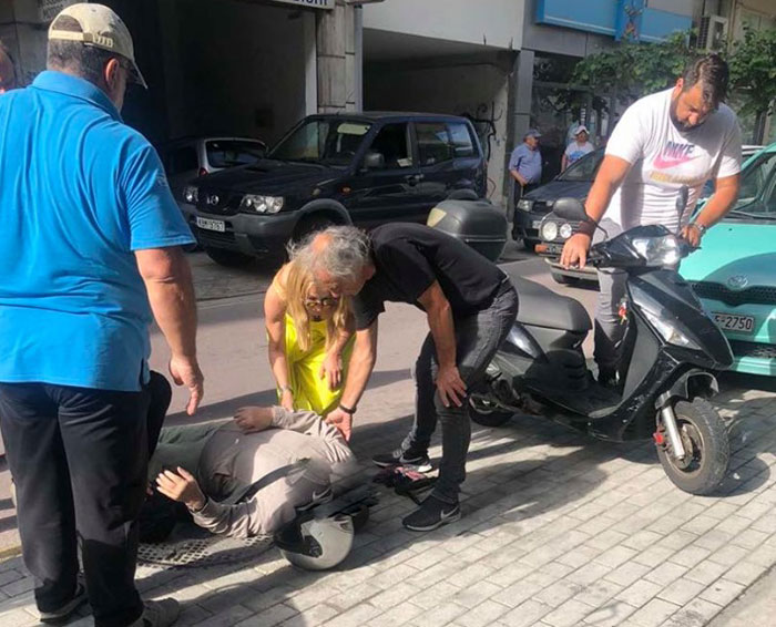 Τραυματίστηκε οδηγός δικύκλου στην Βενιζέλου