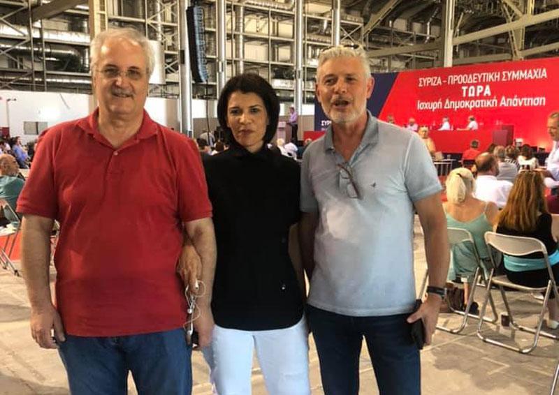 Στελέχη του ΣΥΡΙΖΑ Καβάλας στη συνεδρίαση των Αθηνών