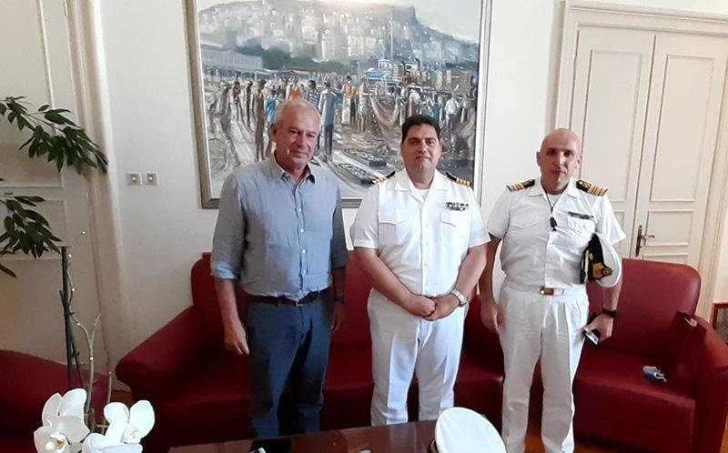 Συνάντηση Μουριάδη με το νέο Διοικητή της 2ης Περιφερειακής Διεύθυνσης Λιμενικού Σώματος Ελληνικής Ακτοφυλακής