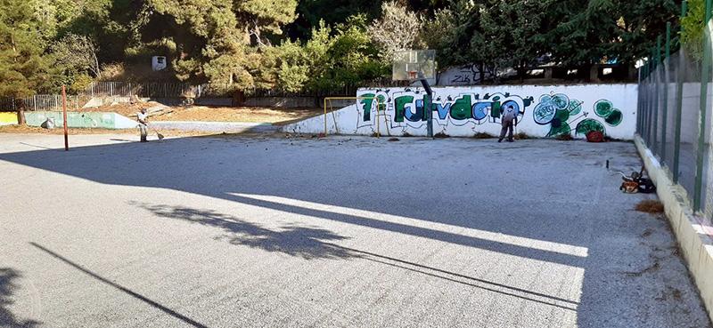 Συνεχίζονται οι εργασίες στις σχολικές μονάδες του Δήμου Καβάλας (φωτογραφίες)