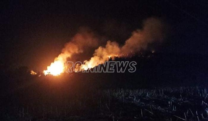 Πυρκαγιά σε δασική έκταση κοντά στους Αντιφιλίππους (φωτογραφίες+video)