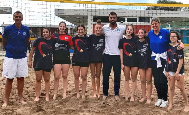 Οι αθλήτριες βόλεϊ του Γ.Σ. Ελευθερούπολης στην Αλεξανδρούπολη, σε προπονητικό camp beach volley