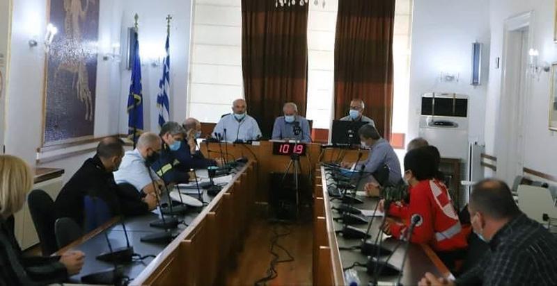 Συνεδρίαση για την αντιμετώπιση πλημμυρικών φαινομένων και χιονοπτώσεων για τη φετινή περίοδο