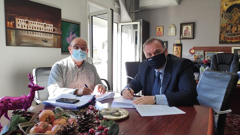 """Υπογραφή Σύμβασης του έργου: """"Αποκατάσταση βλαβών στους αγωγούς ύδρευσης και πηγών του οικισμού Λιμένα, Κοινότητας Θάσου"""""""