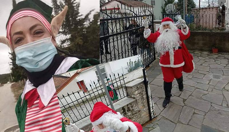 Ο Άγιος Βασίλης επισκέφθηκε το Ζυγό (με όλα τα μέτρα πρόληψης του κορωνοϊού)