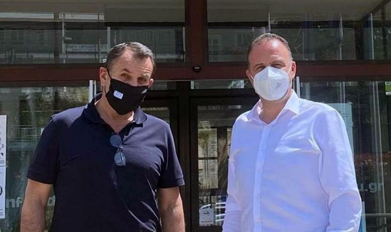 Επίσκεψη του Νίκου Παναγιωτόπουλου στο Δημαρχείο Παγγαίου (φωτογραφίες)