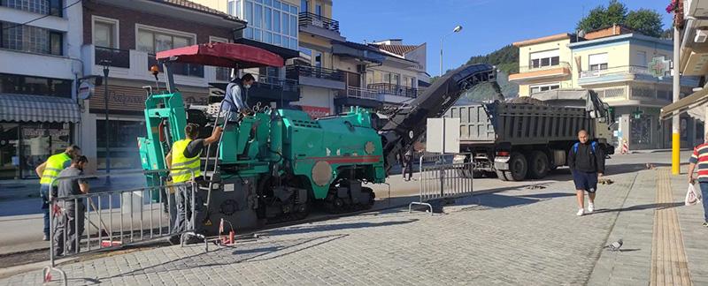 Κλειστή η Λεωφόρος Φρίξου Παπαχρηστίδη στην Ελευθερούπολη λόγω ασφαλτόστρωσης (φωτογραφίες)