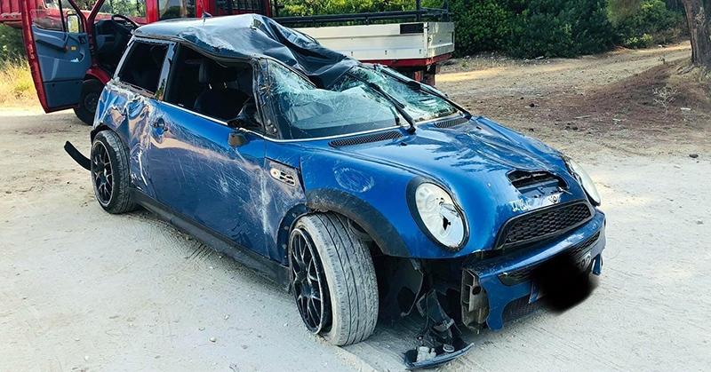 Θάσος: Τροχαίο υλικών μετά από ανατροπή οχήματος