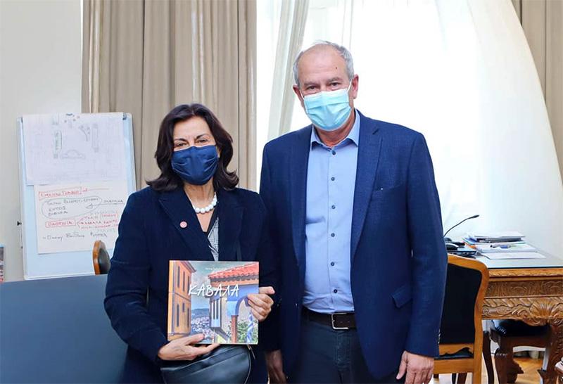 Επίσκεψη της Αν. Τομεάρχη Κοινωνικής Πρόνοιας του ΣΥΡΙΖΑ, Θεανώς Φωτίου στο Δημαρχείο Καβάλας