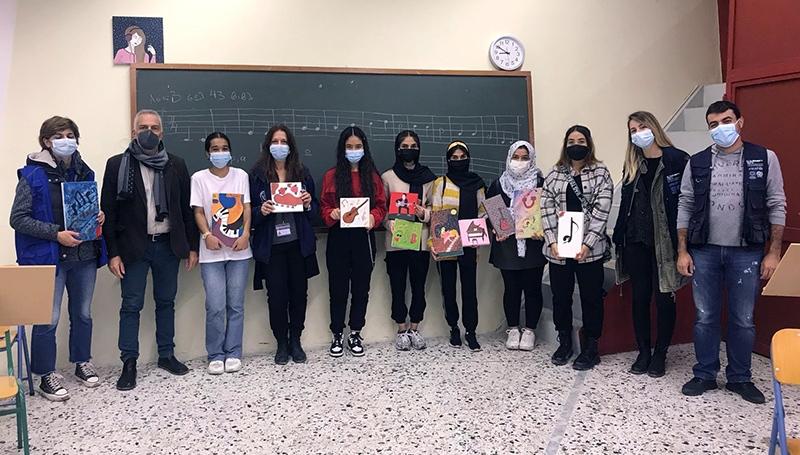 17 ξεχωριστοί πίνακες από κορίτσια του «Ασημακοπούλου» κοσμούν την αίθουσα ορχήστρας του Μουσικού Σχολείου (φωτογραφίες)